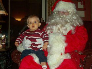Owen & Santa